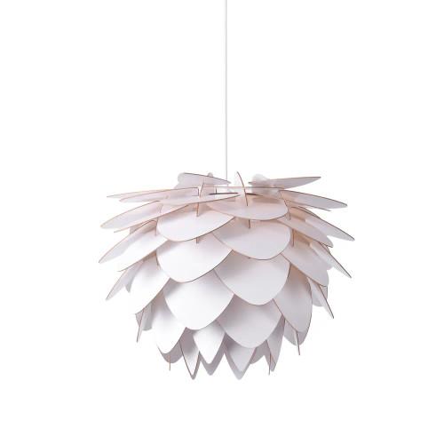 Zaira Wooden Leaves White Pendant Light