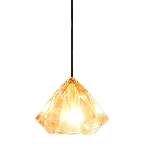 Gypsy Wide Champagne Faceted Glass Pendant Light