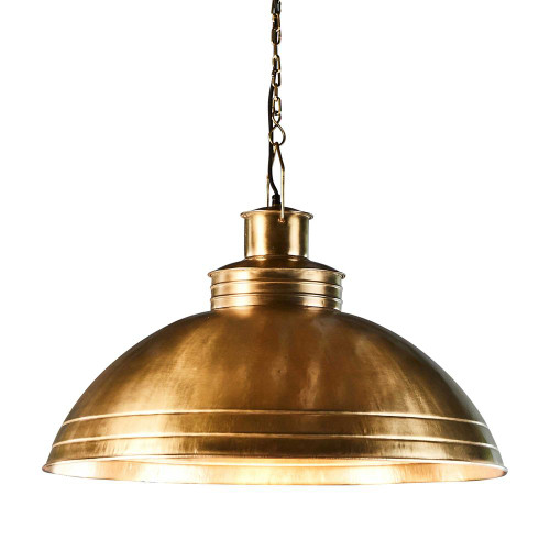 Sullivan Large Dome Brass Iron Industrial Pendant Light
