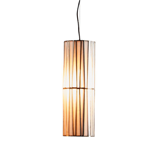 Cassandra Cylinder Brass Glass Lantern Pendant Light