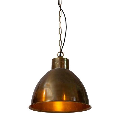 Morris Bell Brass Metal Pendant Light
