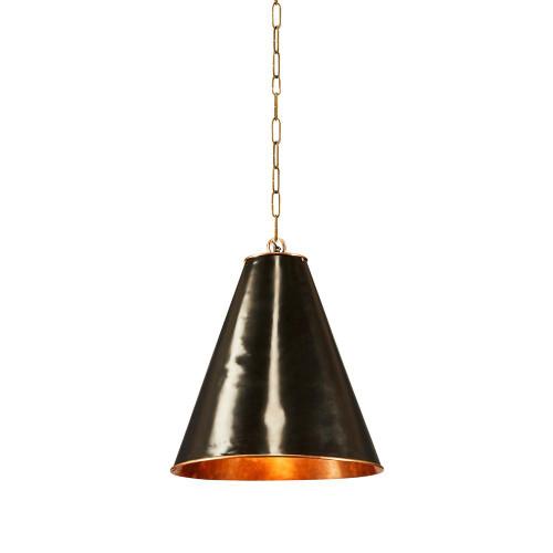 Casino Small Cone Black Brass Pendant Light