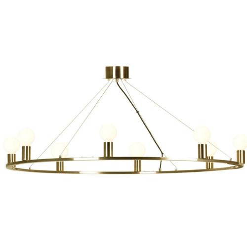 Yaseen Ring Antique Brass Metal Pendant Light