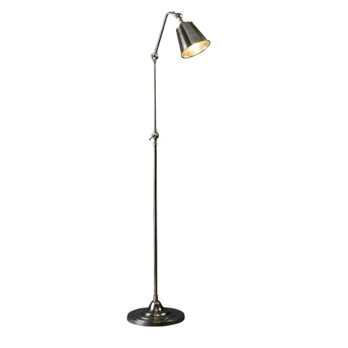 Branford Antique Silver Floor Lamp