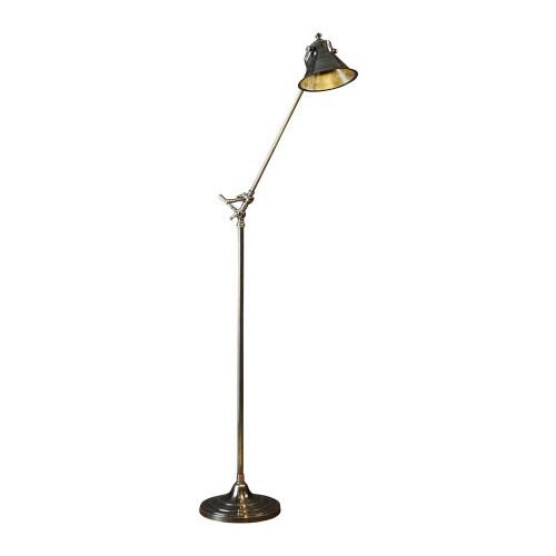 Hampstead Antique Silver Industrial Floor Lamp