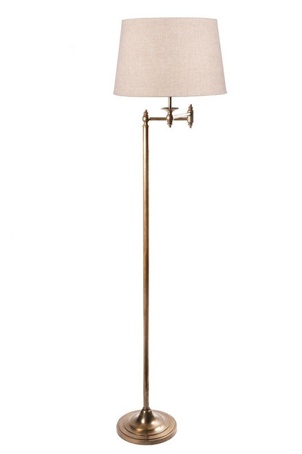 Macleod Swing Arm Adjustable Antique Brass Floor Lamp Base