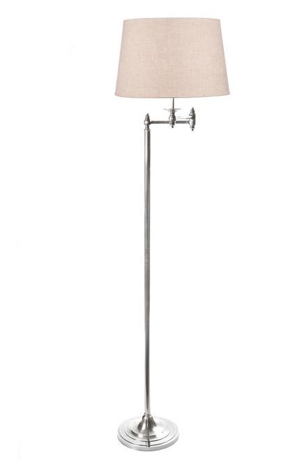 Macleod Swing Arm Adjustable Antique Silver Floor Lamp Base