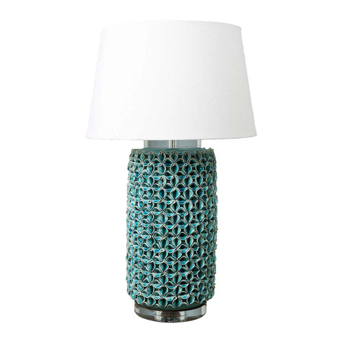 Turquoise Glazed Ceramic Table Lamp