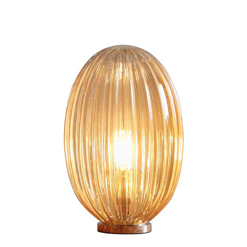 Egg Small Ribbed Champagne Glass Pod Table Lamp