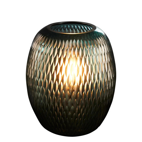 Bella Turquoise Hand Cut Glass Table Lamp