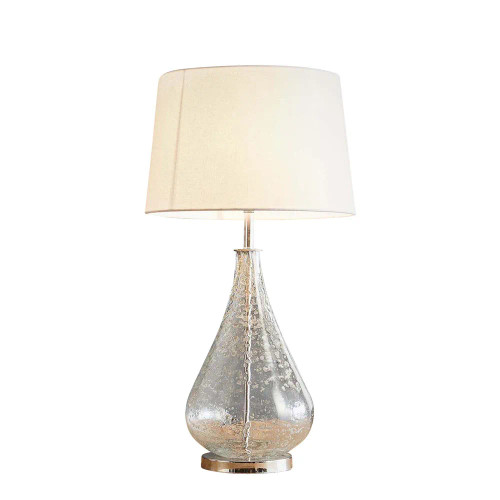 Lustre Glass Teardrop Stone Effect Table Lamp Base - Clear