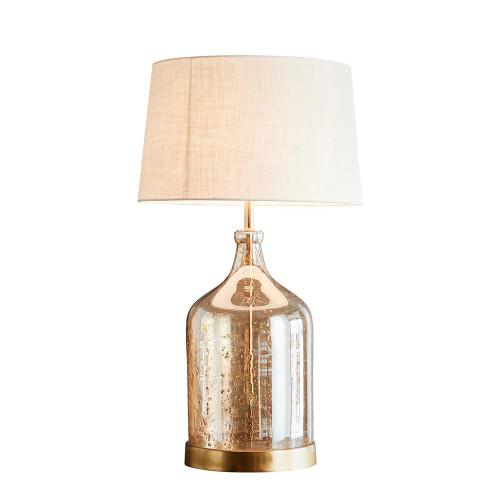 Lustre Glass Flagon Stone Effect Table Lamp Base - Gold