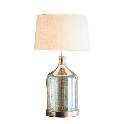 Lustre Glass Flagon Stone Effect Table Lamp Base - Green
