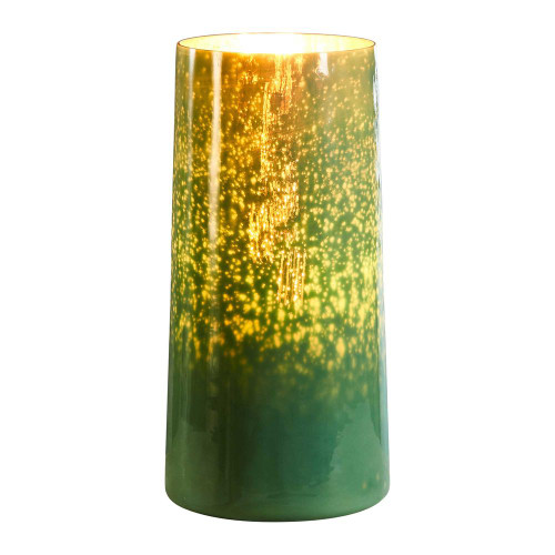 Elm Tall Cylinder Emerald Glass Table Lamp