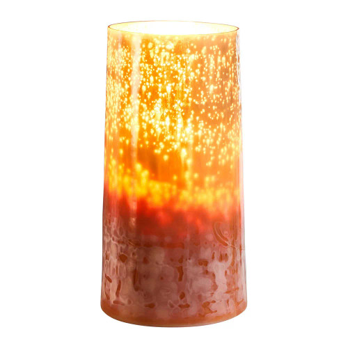 Elm Tall Cylinder Blush Glass Table Lamp