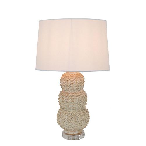 Sea Urchins Cream Ceramic Table Lamp Base