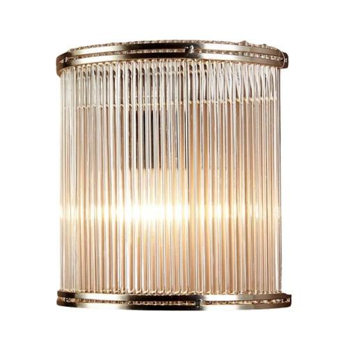 Verra Half Round Silver Glass Wall Light