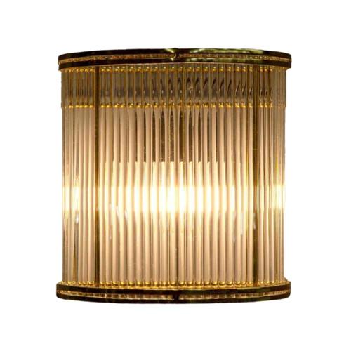 Verra Half Round Brass Glass Wall Light