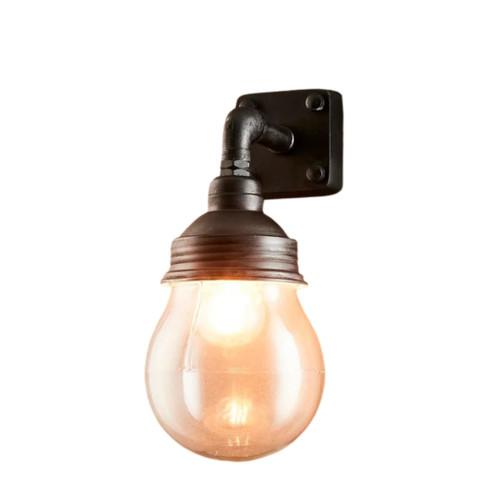 London Black Indoor/Outdoor Wall Lamp