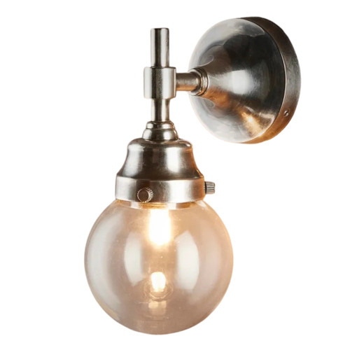 Granby Antique Silver Glass Outdoor Wall Light
