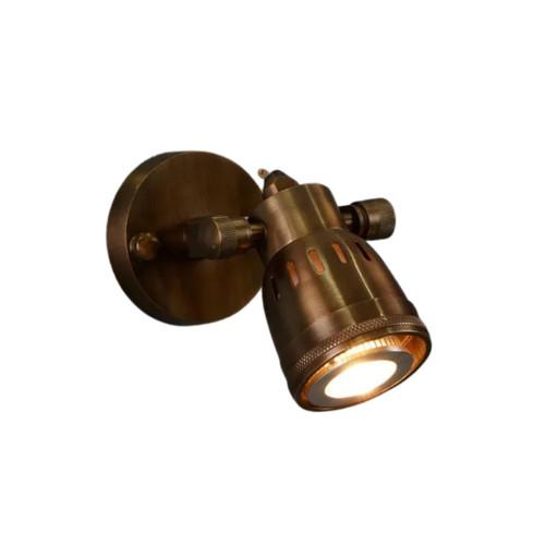 Pueblo Antique Brass Short Arm Wall Light