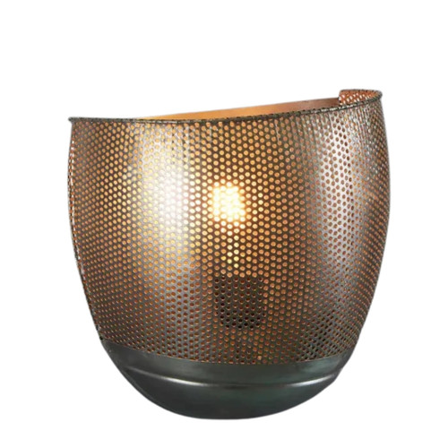 River Zinc Perforated Iron Wall Sconce