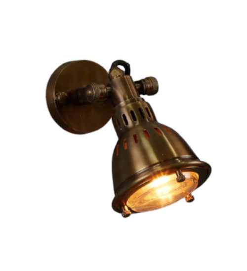 Arvada Antique Brass Short Arm Wall Light