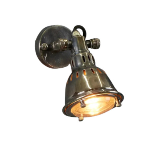 Arvada Antique Silver Short Arm Wall Light