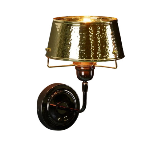 Staf Gold Hammered Flared Shade Wall Light