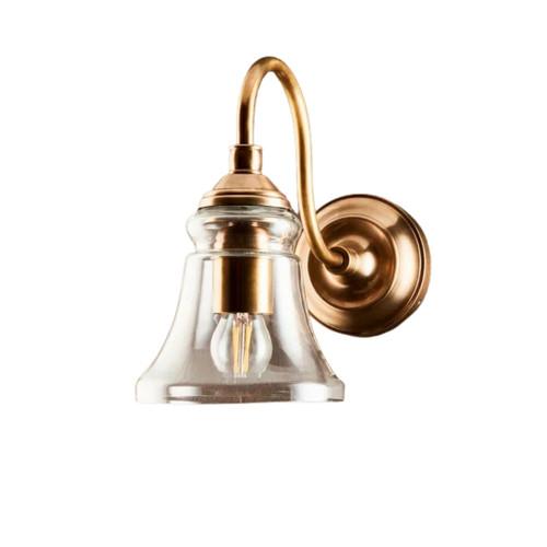 Midvale Antique Brass Glass Wall Light