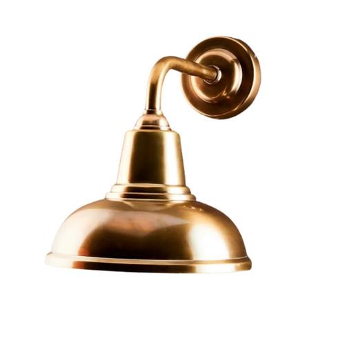 Monroe Dome Antique Brass Wall Light
