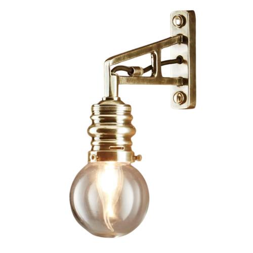 Clayburn Brass Glass Outdoor Wall Light