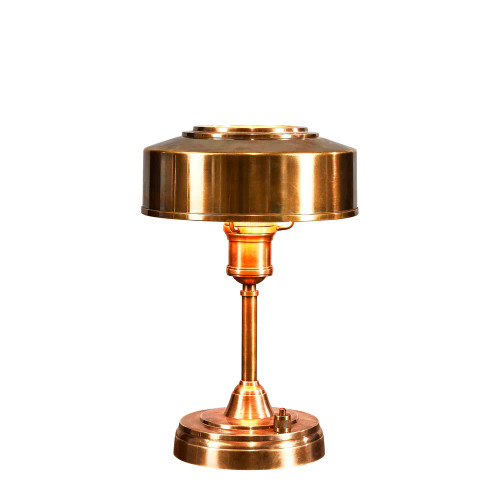 Bank Small Brass Art Deco Table Lamp
