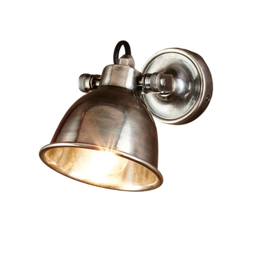 Onyx Antique Silver Wall Lamp