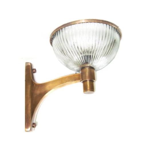 Athenia Glass Brass Wall Light