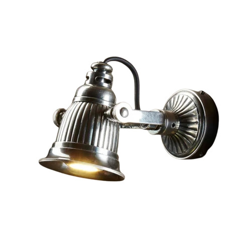 Cale Adjustable Silver Wall Light