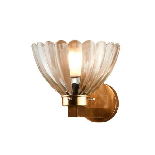 Lota Antique Brass Wall Light