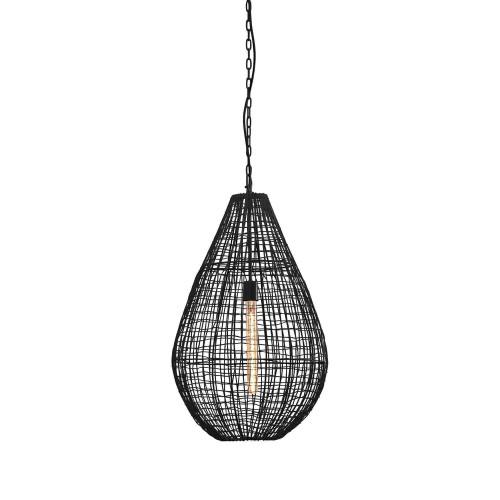 Loris Teardrop Black Woven Wire Metal Pendant Light.jpg