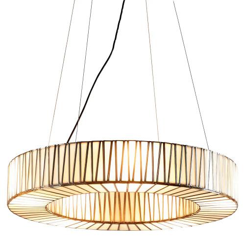 Cassandra Ring Brass Glass Lantern Pendant Light - Large