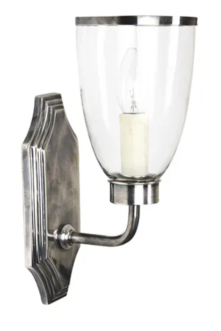 Westbrook Silver Glass Shade Wall Light