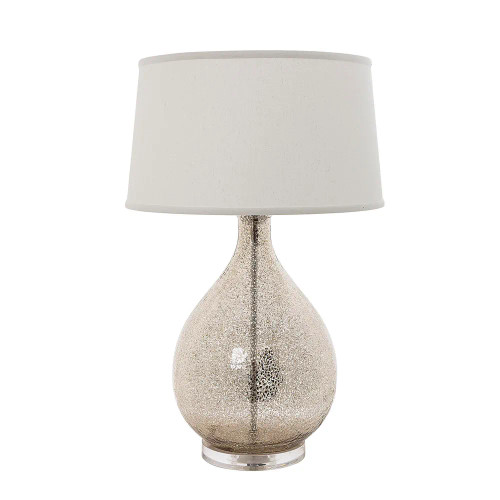 Livonia Glass with Linen Shade Table Lamp