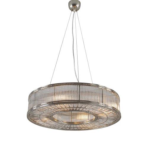 Arlington Ring Nickel Glass Pendant Light