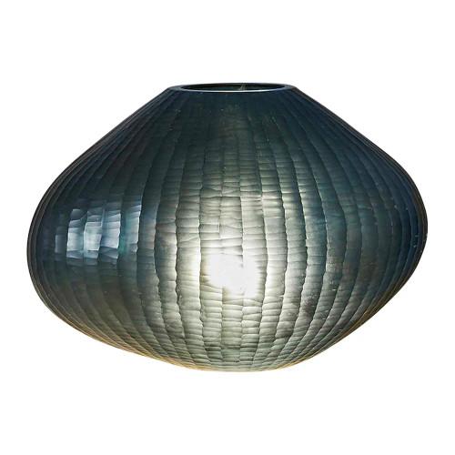 Freeform Bottle Green Art Glass Table Lamp