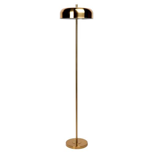 Clementine Dome Brass Floor Lamp