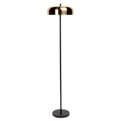 Clementine Dome Black and Brass Floor Lamp