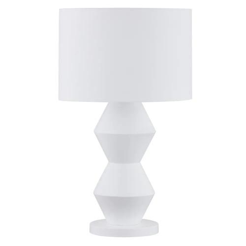 Antoinette Abstract White Resin Table Lamp