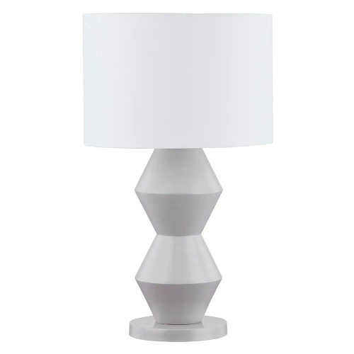 Antoinette Abstract Grey Resin Table Lamp