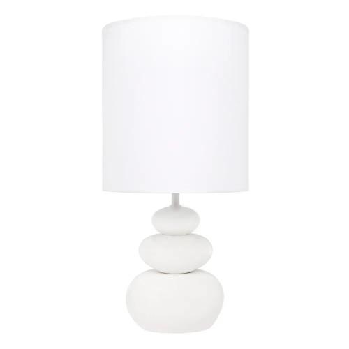 Zoe Pebble Matt White Ceramic Table Lamp