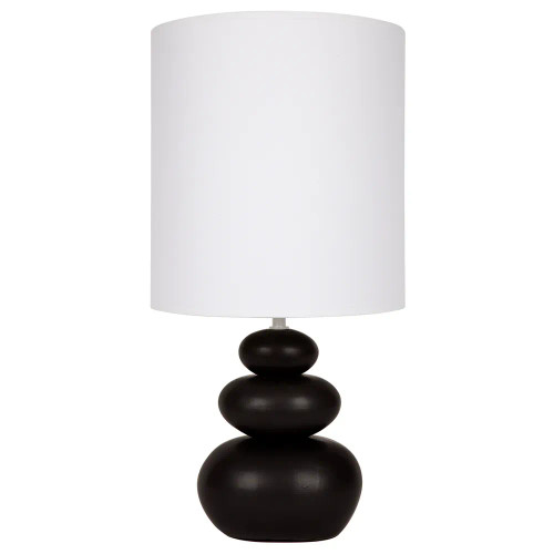 Zoe Pebble Matt Black Ceramic Table Lamp