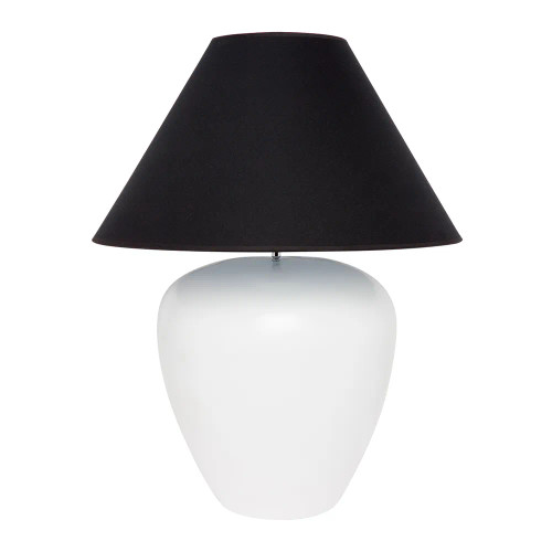 Germaine White with Black Shade Ceramic Table Lamp